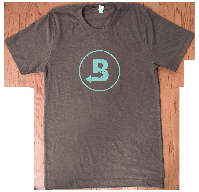 brown boveda logo t-shirt
