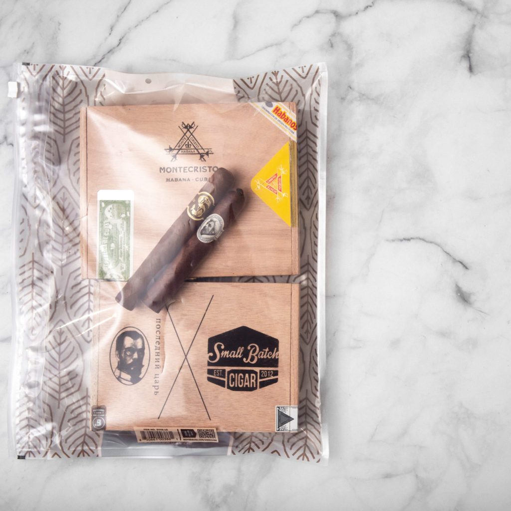 Boveda Humidor Bags are preloaded with Boveda humidity packs in the best RH for cigars.