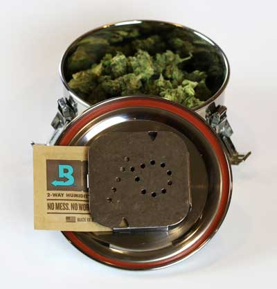 Save terpenes! Store cannabis in CVault airtight containers with with Boveda humidity packets.