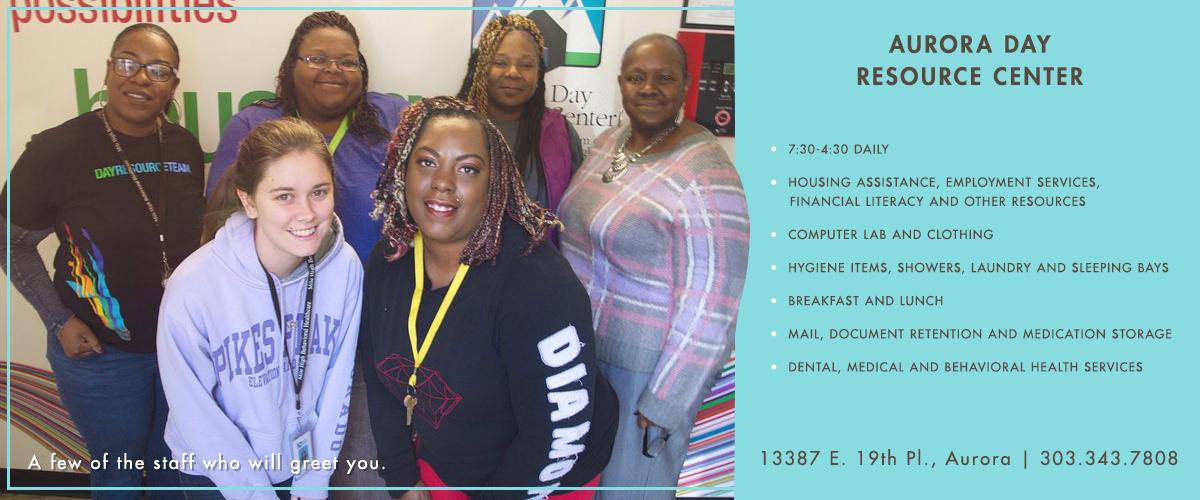 Staff at the Aurora Resource Center