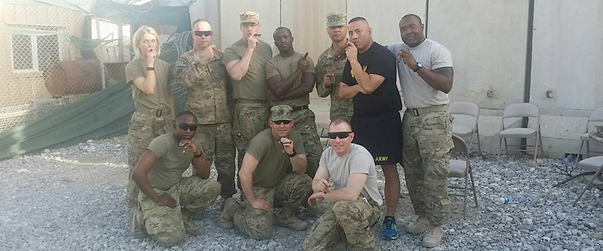 Warriors Posing with Cigars