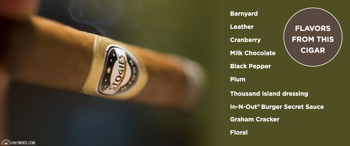 Flavors picked up from the cigar being smoked.