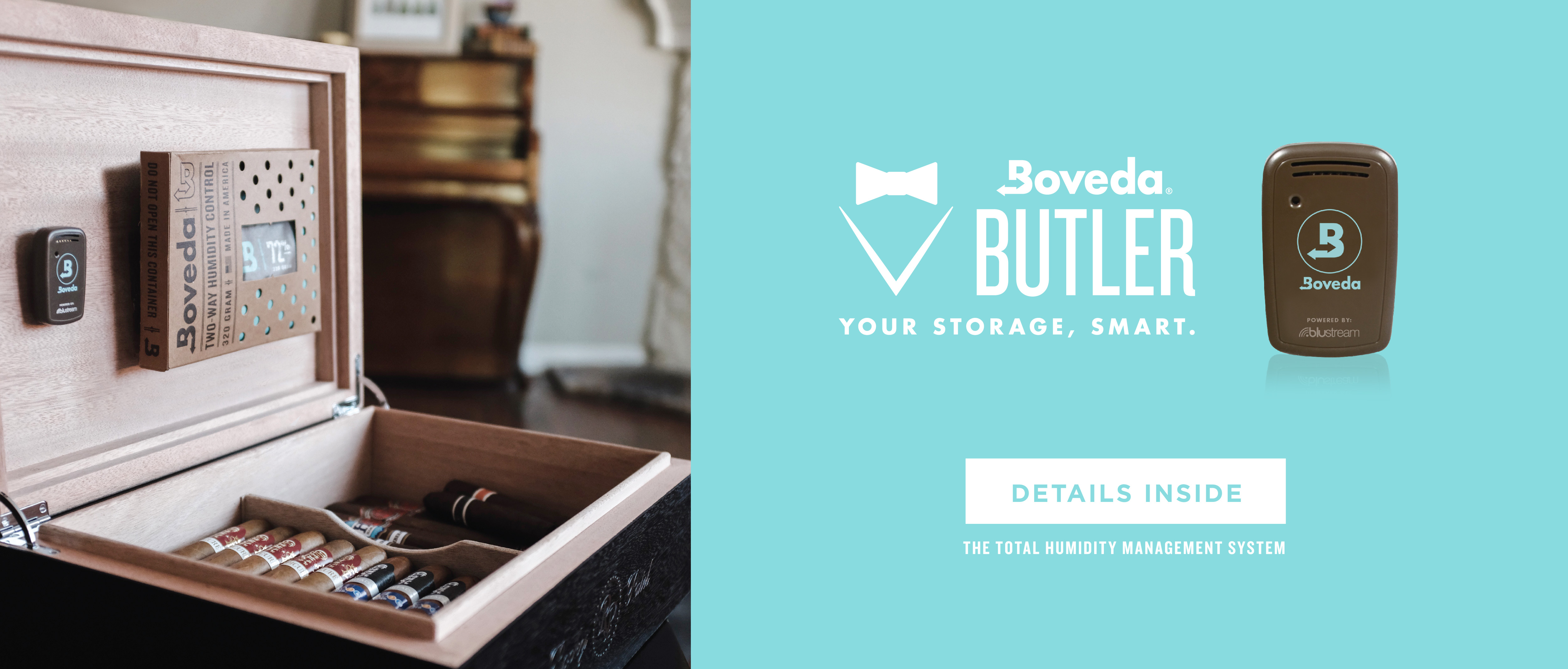 Monitor your valuables with the Boveda Butler.