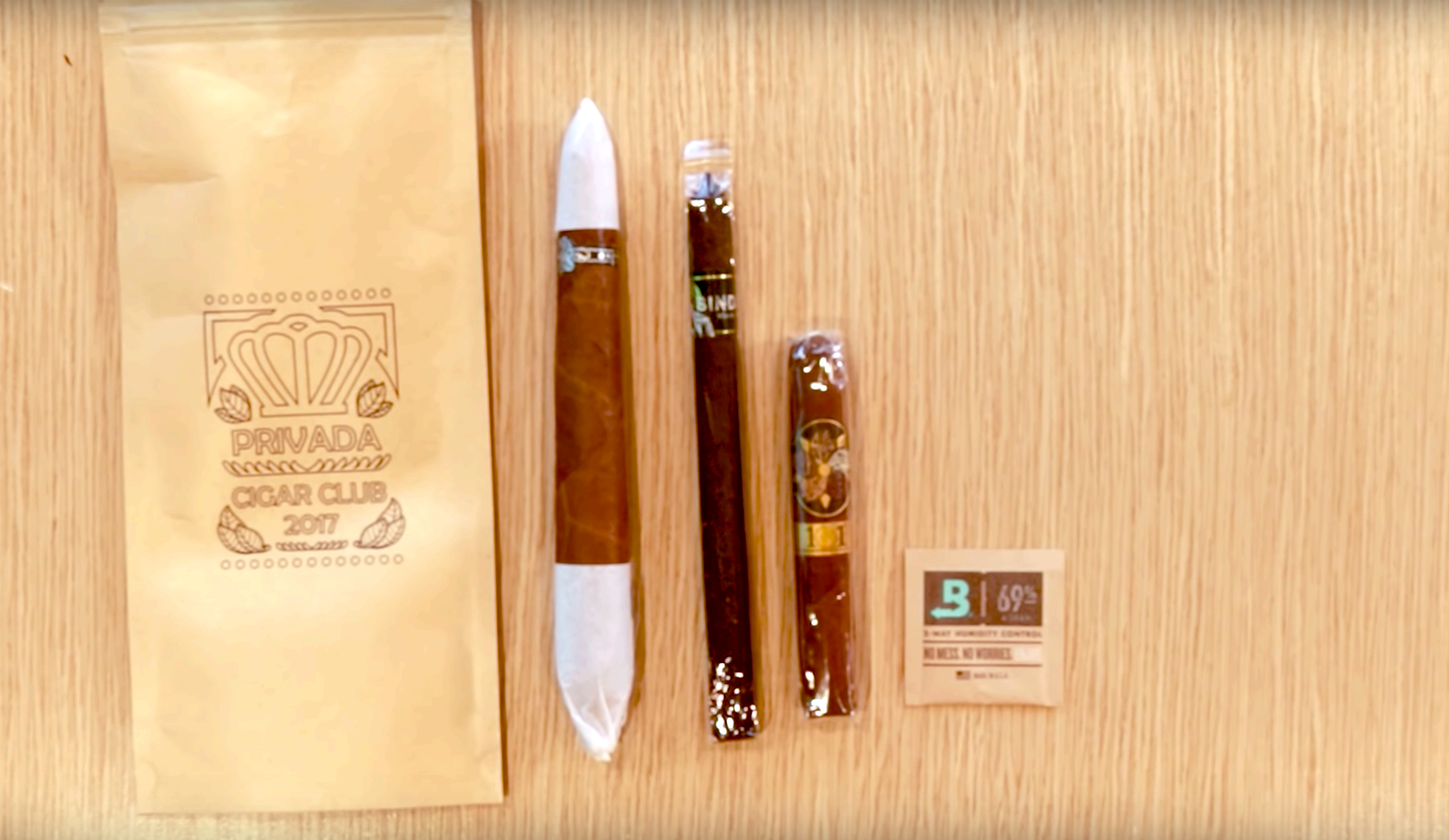 Privada Cigar Club sends 3 cigars (most of them aged or hard-to-find smokes), along with tasting notes and pairing ideas. Boveda keeps all the hand-picked cigars fresh in transit and until they're ready to smoke.