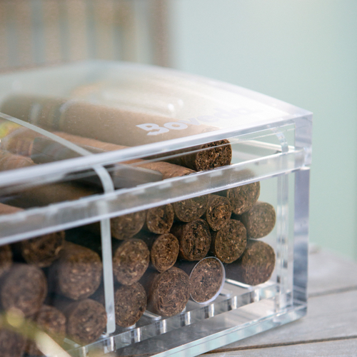 cigars in clear case