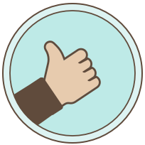 Thumbs up graphic