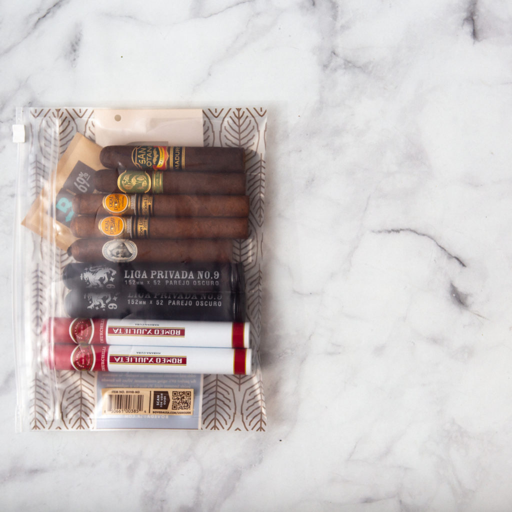 Boveda Humidor Bag is Preloaded with Cigar Humidity Packs