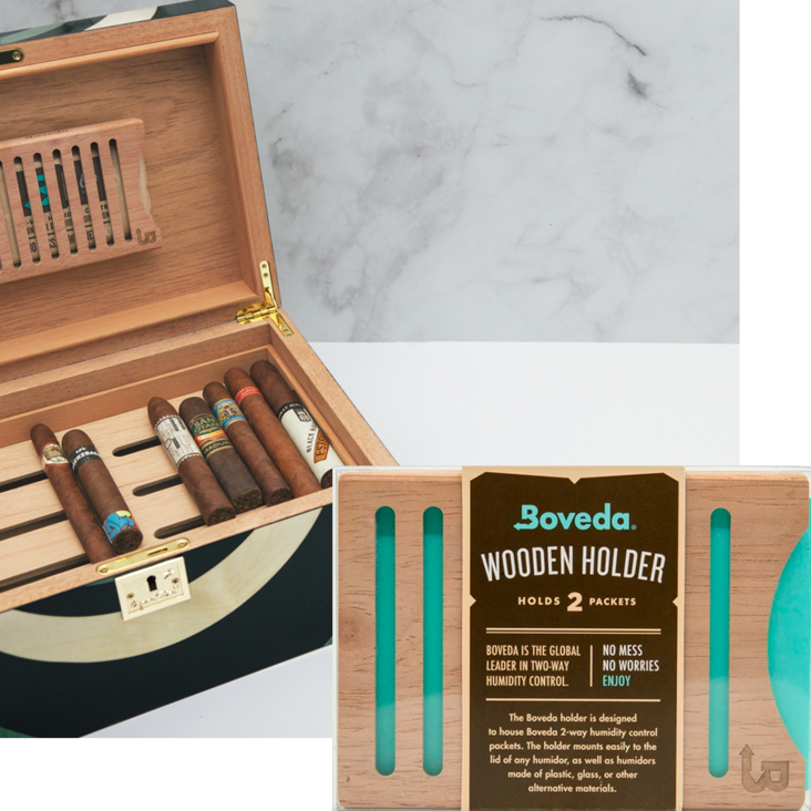 Wood Boveda Holder for Humidors for Cigar Humidity Packs
