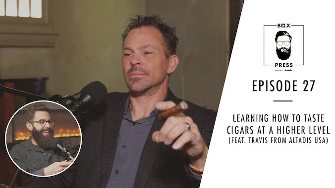 How to taste cigars at a higher level with Travis Pappenheim, Altadis USA.