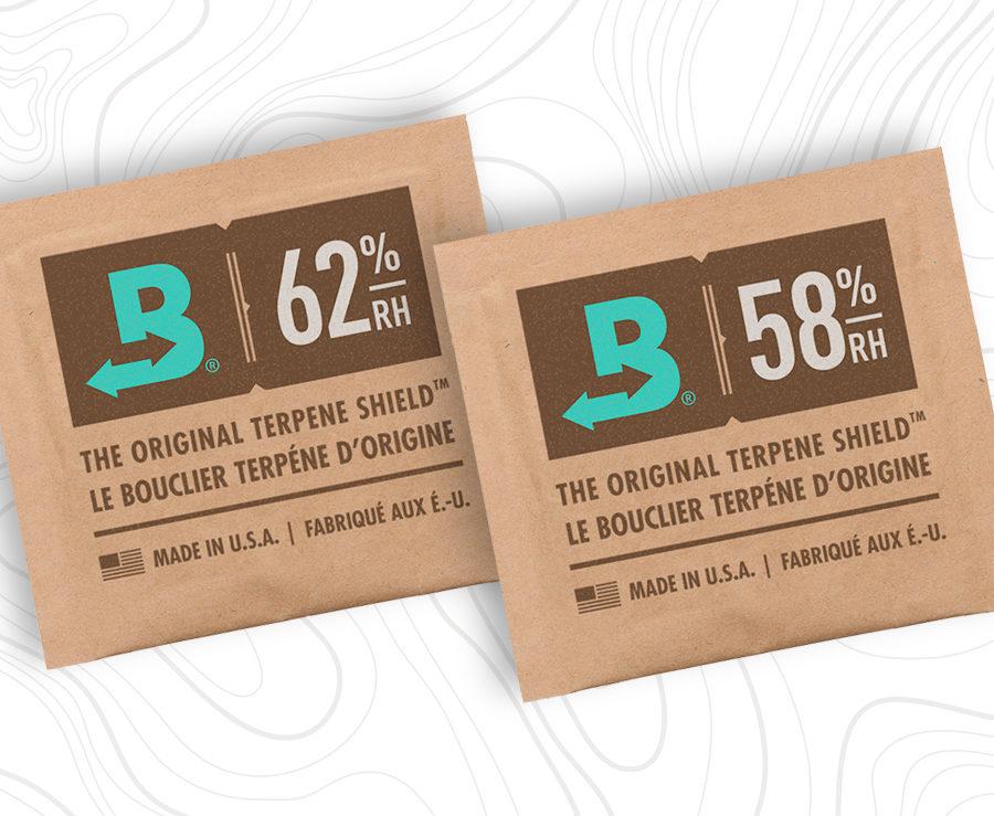 Both Boveda 58% and 62% RH create a terpene shield.