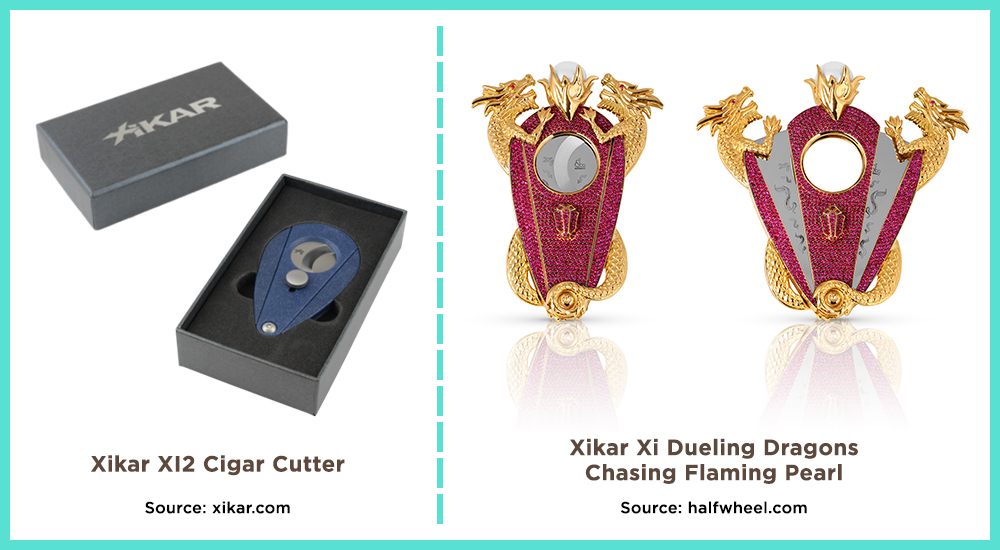 A cigar cutter can range in price from $10 to $150,000. A cigar smoker can find this necessary cigar accessory to fit every budget.